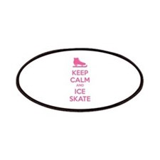 Keep calm and ice skate Patches