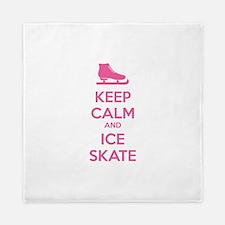 Keep calm and ice skate Queen Duvet