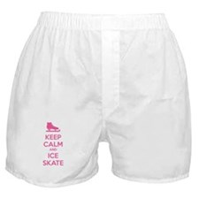 Keep calm and ice skate Boxer Shorts