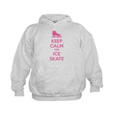 Keep calm and ice skate Hoodie