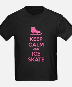 Keep calm and ice skate T