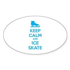 Keep calm and ice skate Bumper Stickers