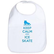 Keep calm and ice skate Bib