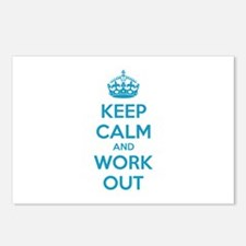 Keep calm and work out Postcards (Package of 8)