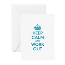 Keep calm and work out Greeting Cards (Pk of 10)