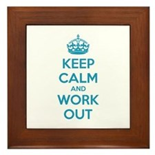 Keep calm and work out Framed Tile