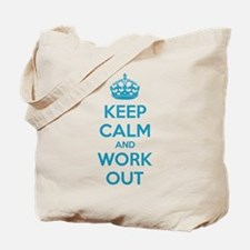 Keep calm and work out Tote Bag