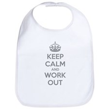 Keep calm and work out Bib