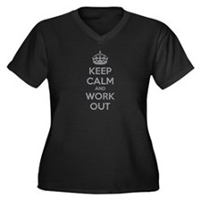 Keep calm and work out Women's Plus Size V-Neck Da