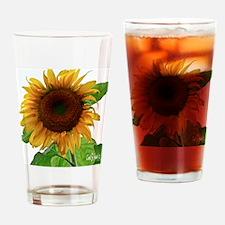 Sunflower in Full Bloom Drinking Glass
