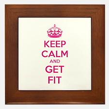 Keep calm and get fit Framed Tile