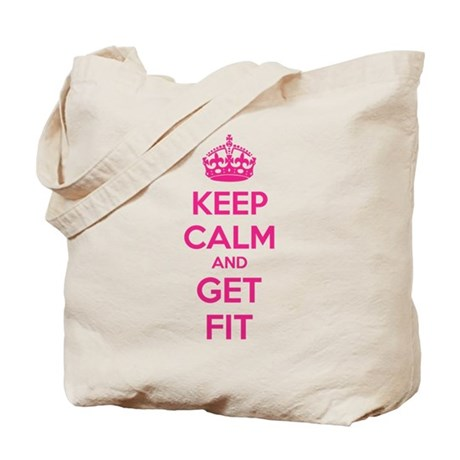Keep calm and get fit Tote Bag