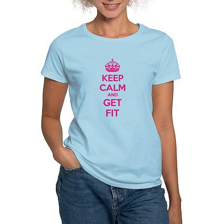 Keep calm and get fit Women's Light T-Shirt