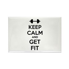 Keep calm and get fit Rectangle Magnet