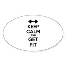 Keep calm and get fit Decal