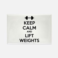 Keep calm and lift weights Rectangle Magnet