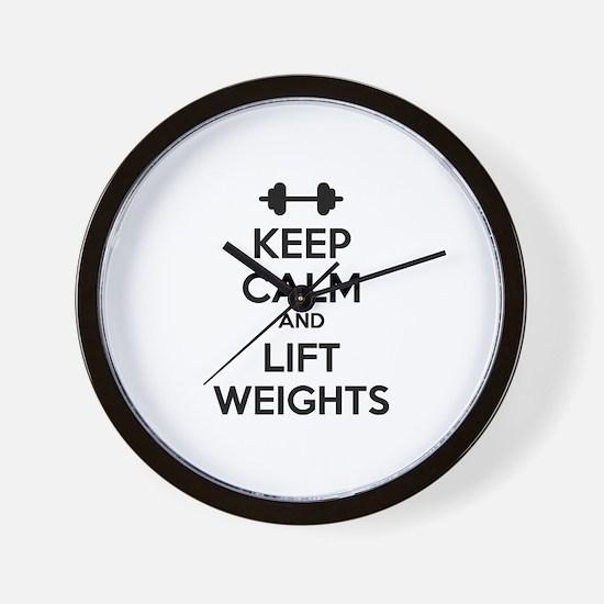 Keep calm and lift weights Wall Clock