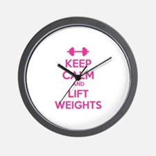 Keep calm and lift weights Wall Clock