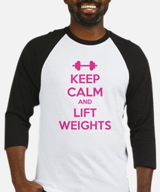 Keep calm and lift weights Baseball Jersey