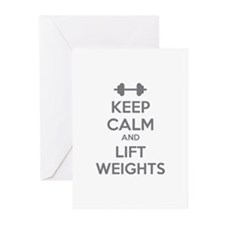 Keep calm and lift weights Greeting Cards (Pk of 2