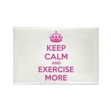 Keep calm and exercise more Rectangle Magnet