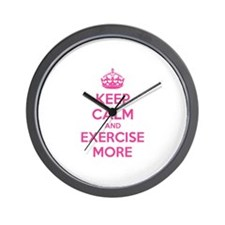 Keep calm and exercise more Wall Clock