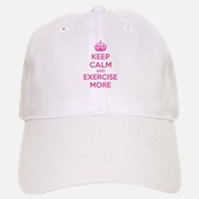 Keep calm and exercise more Baseball Baseball Cap