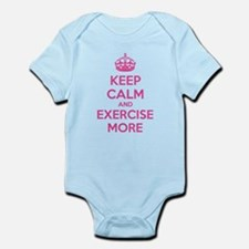 Keep calm and exercise more Infant Bodysuit