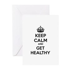 Keep calm and get healthy Greeting Cards (Pk of 20
