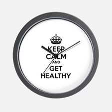Keep calm and get healthy Wall Clock