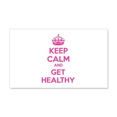 Keep calm and get healthy 22x14 Wall Peel