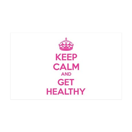 Keep calm and get healthy 38.5 x 24.5 Wall Peel