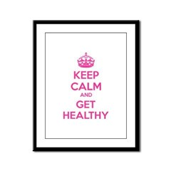 Keep calm and get healthy Framed Panel Print