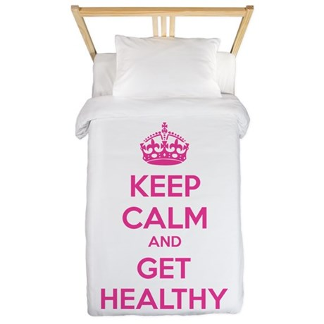 Keep calm and get healthy Twin Duvet