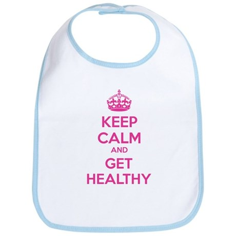 Keep calm and get healthy Bib