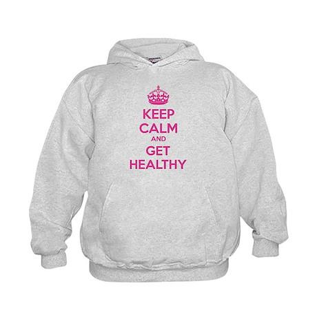 Keep calm and get healthy Kids Hoodie
