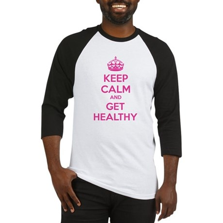 Keep calm and get healthy Baseball Jersey