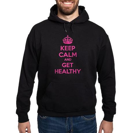 Keep calm and get healthy Hoodie (dark)