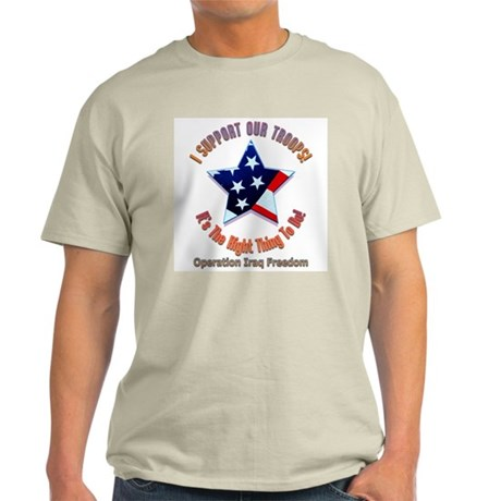 I support our troops Ash Grey T-Shirt