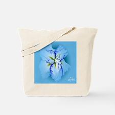 Iris in Blue Mist Tote Bag