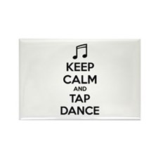 Keep calm and tap dance Rectangle Magnet (100 pack