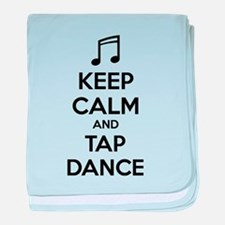 Keep calm and tap dance baby blanket