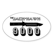 Jack Hawk Oval Decal