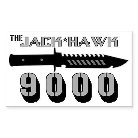 Jack Hawk Rectangle Sticker