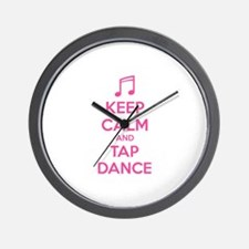 Keep calm and tap dance Wall Clock