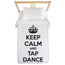 Keep calm and tap dance Twin Duvet