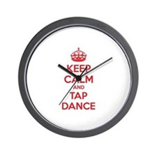 Keep calm and tap dance Wall Clock