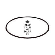 Keep calm and salsa on Patches