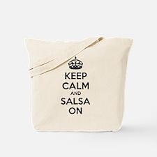 Keep calm and salsa on Tote Bag