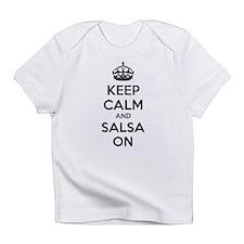 Keep calm and salsa on Infant T-Shirt